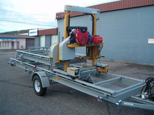 HAWKMILL BANDSAWMILL , TRAILER MODEL/ HYDRAULIC PACKAGE/24 HP Prince George British Columbia image 3
