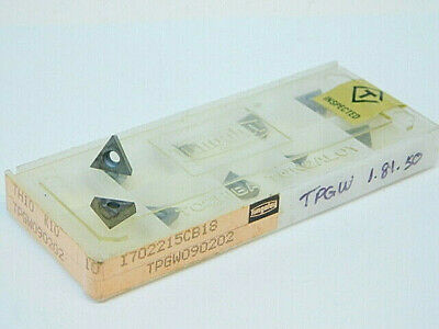 New Surplus 10pcs. Tungaloy Tpgw 1.81.50 Grade Th10 Carbide Inserts