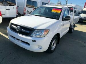 2008 Toyota Hilux GGN15R 07 Upgrade SR White 5 Speed Automatic Cab Chassis Granville Parramatta Area Preview