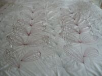Bedding double king size white embroidered duvet cover - southbourne