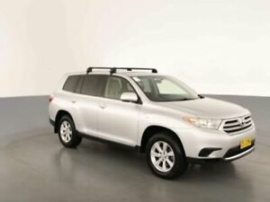 2012 Toyota Kluger GSU40R MY11 Upgrade KX-R (FWD) 5 Seat Silver Pearl 5 Speed Automatic Wagon