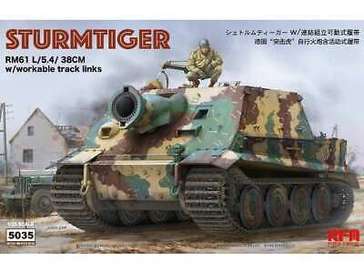 Rye Field 1/35 5035 Sturmtiger with Workable Track Links and Full Interior