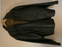 Dark Brown Leather Jacket Size Large 44/46