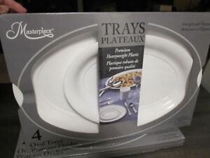 "Trays..""Masterpiece, Heavyweight Plastic,4 oval,Brand New in Box"