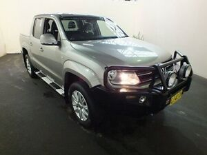 2011 Volkswagen Amarok 2H MY13 TDI400 4MOT HIGHLINE Beige Manual Dual Cab Utility Clemton Park Canterbury Area Preview