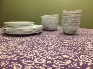 Acropal dish set with serving plates, mugs, teacups and glasses