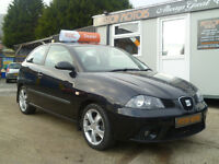 2007 SEAT IBIZA 1.4 SPORT A/C GROUP 5 INS ,, ALL CREDIT/DEBIT CARDS ACCEPTED