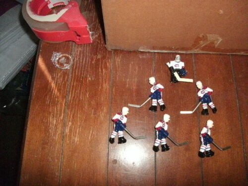 Stiga Montreal Canadians Table Rod Hockey Players brand new and 3 new pucks