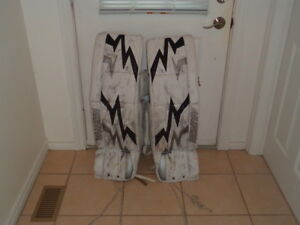 "Vaughn Goalie Pads 37""+1  There are used (one season) and are"