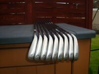 taylor made irons supersteel burner 3 tosand iron in goodcondition good grips.