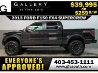 2013 FORD F-150 FX4 LIFTED  *EVERYONE APPROVED* $0 DOWN $259/BW
