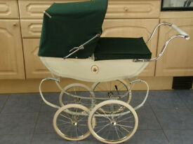 lovely silver cross dolls pram with extras