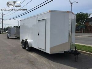 2019 NEW 7X16 ENCLOSED V-NOSE CARGO TRAILERS EXTRA HEIGHT