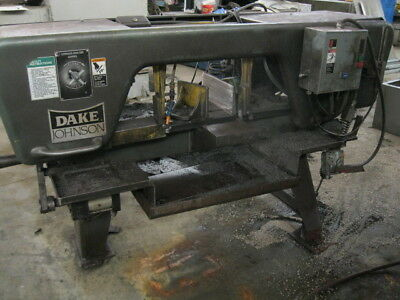 Horizontal Band Saw 10 X 18 Dake-johnson Jh10 1 Blade 1 Hp Coolant