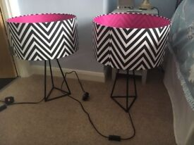 2 designer table lamps