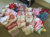 Baby Girl bundle clothes 60 pieces 0-6 months various brands