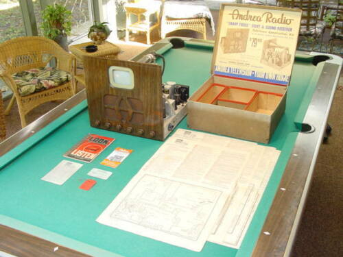 1939 Prewar Sight and Sound Andrea KT-E-5 Kit TV w/Box, Instructions, Etc.