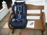 A NANIA CHILD'S CAR SEAT WITH HOW TO USE MANUAL REAR FACING POSITION AND FORWARD FACING POSITION
