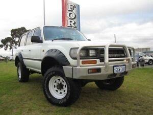 1993 Toyota Landcruiser 80 SERIES White 5 SPEED MANUAL Wagon Wangara Wanneroo Area Preview