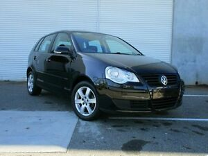 2009 Volkswagen Polo 9N MY2009 Pacific Black 6 Speed Sports Automatic Hatchback Edwardstown Marion Area Preview