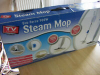 STEAM MOP ECO FORCE 900W ALL ACCESSORIES BOXED WORKING TV LINES STEAM CLEAN MOP