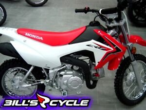 2017 HONDA Off Road CRF 110 FH   MX Electric Start Red