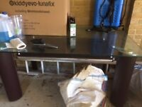 Tempered Glass Dining Table that sits 6. Good condition, needs a clean down that's all