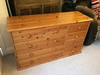 Beautiful Nine Drawer Pine Chest of Drawers