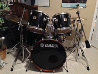 Yamaha DP Series drum kit with Zildjian/Sabian cymbals