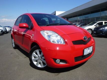2009 Toyota Yaris NCP90R MY09 Edge Red 4 Speed Automatic Hatchback