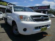 2007 Toyota Hilux TGN16R MY07 Workmate White Manual Cab Chassis Penrith Penrith Area Preview