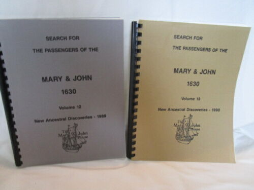 Search for Passengers of Mary & John New Ancestral Discoveries 1989-90 Vol 12-13