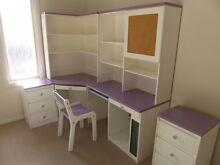 Childrens bedroom modular corner desk / computer hutch Kareela Sutherland Area Preview