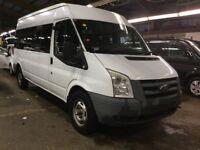 2010 , Ford , Transit , 15 seater , minibus , 87k , fsh , 1 owner , long mot ,