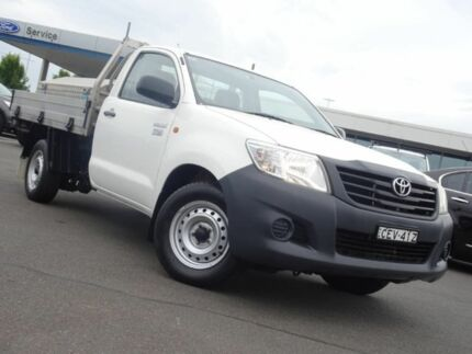 2011 Toyota Hilux TGN16R MY12 Workmate 4x2 White 5 Speed Manual Cab Chassis Strathmore Heights Moonee Valley Preview