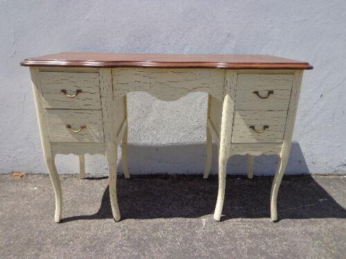 Antique Desk Table Vintage Regency French Provincial Writing Set Vanity Shabby
