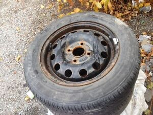 FOUR BOLT 185 65R 14 TIRES PLUS RIMS