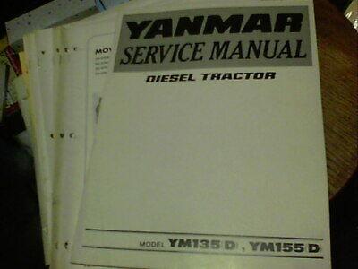 Yanmar Service Manual Diesel Tractor Model Ym135 D Ym155 D