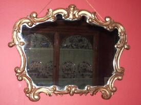 Ornate Vintage Gilt Rococo Style Mirror