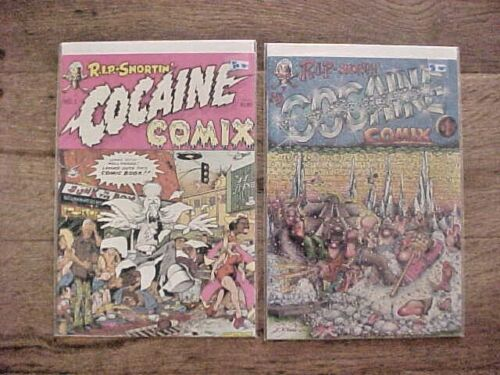 2 VINTAGE UNDERGROUND COMICS COCAINE COMIX #