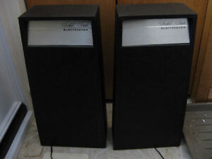 VINTAGE ELECTROHOME REAR REFLECTING SPEAKERS