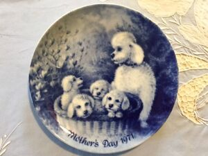 Mothers Day German Blue China Plates