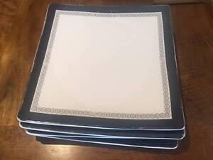 Large Dinner Plates Square (29cm) - fine porcelain - x4 available Mosman Mosman Area Preview