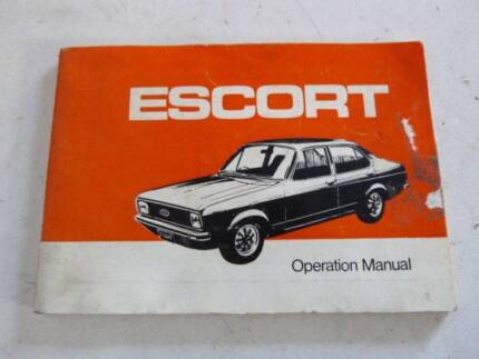 Ford Escort MK2 Car manufacture Handbook Campbellfield Hume Area Preview