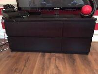 Black Drawers x 4 - Good Condition - Bargain £25