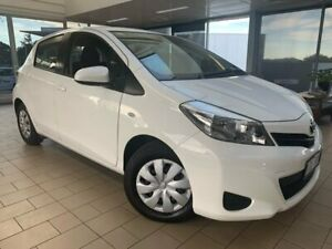 2014 Toyota Yaris NCP130R YR White 5 Speed Manual Hatchback Belconnen Belconnen Area Preview