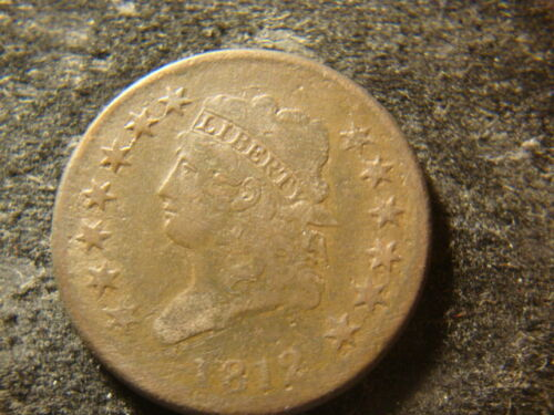 1812 VG F Small Date  Classic Head Large Cent  Decent Coin MSX