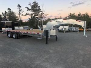 20'+5' BIG GOOSENECK 20K,  K trail galvanized deck trailer