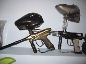 Electric paintball markers plus accessories