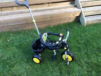 Raleigh buggy boys Trike, exc cond, black and yellow. ideal xmas present